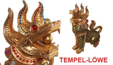 Handgefertigter Tempellöwe